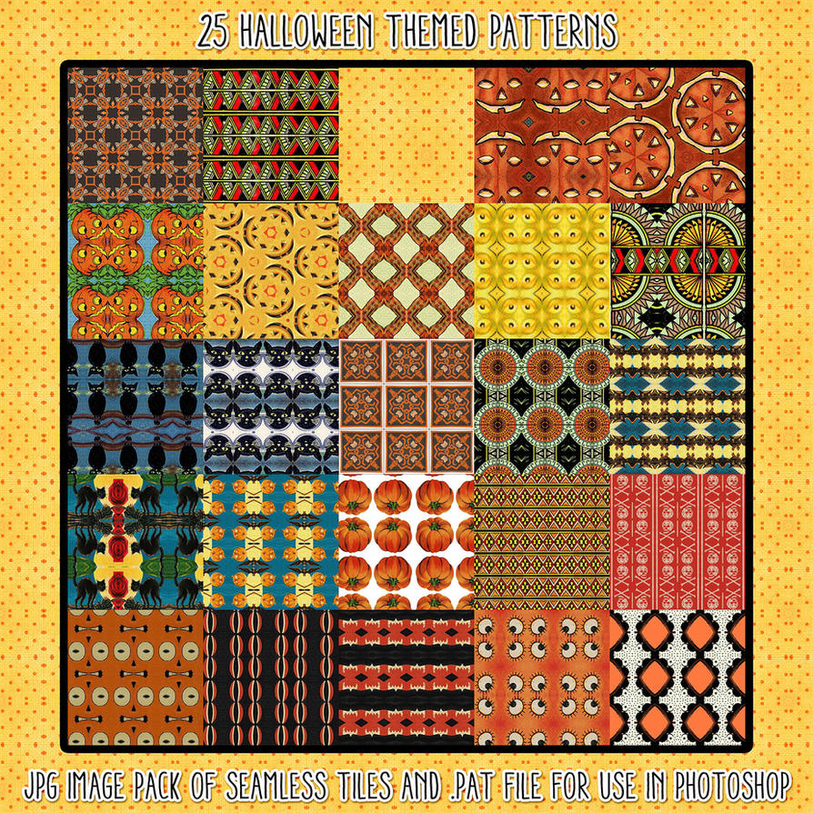 Halloween Patterns by HGGraphicDesigns