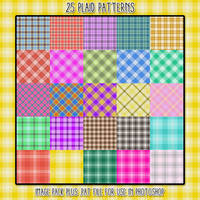25 Plaid Patterns by HGGraphicDesigns
