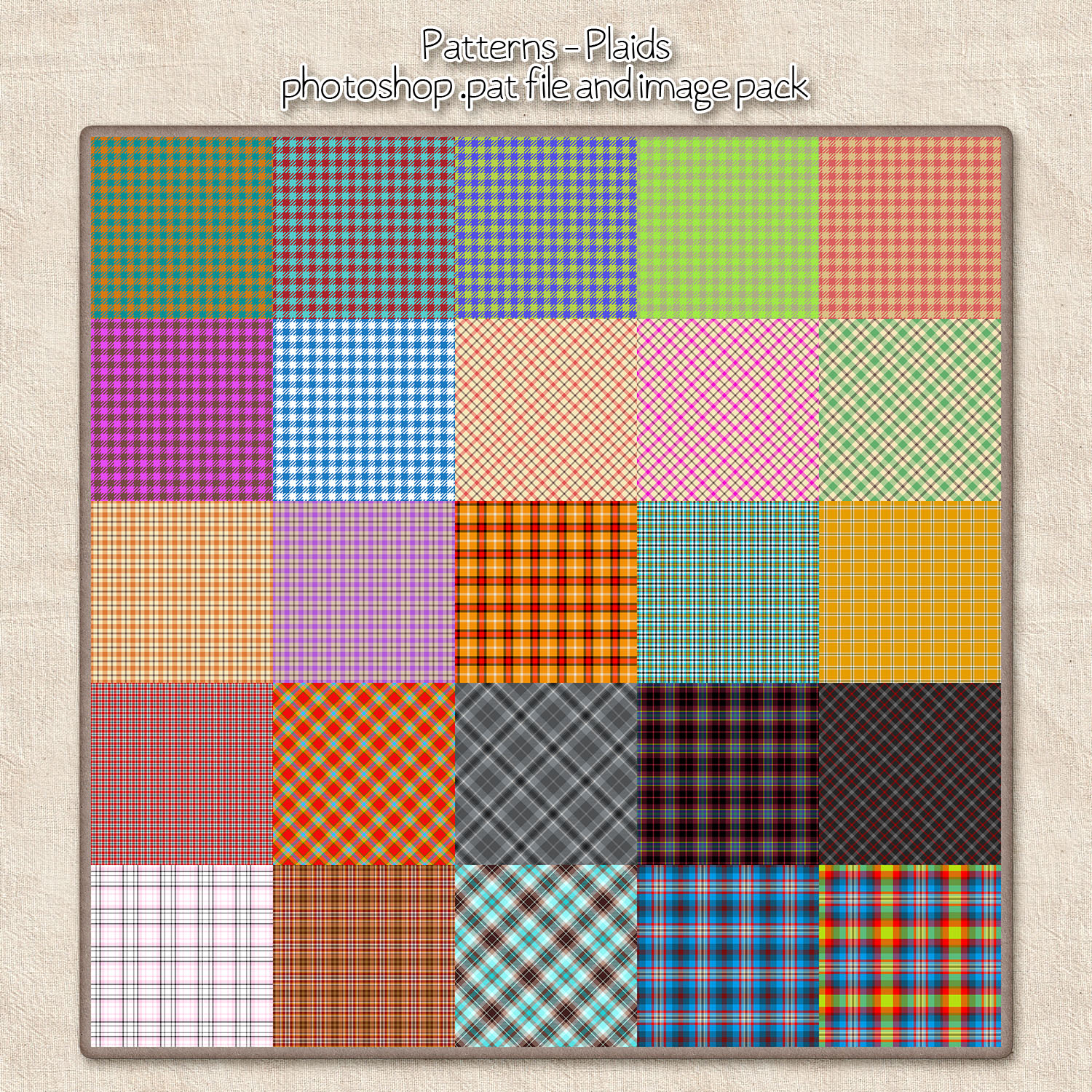 Patterns: Plaids by HGGraphicDesigns