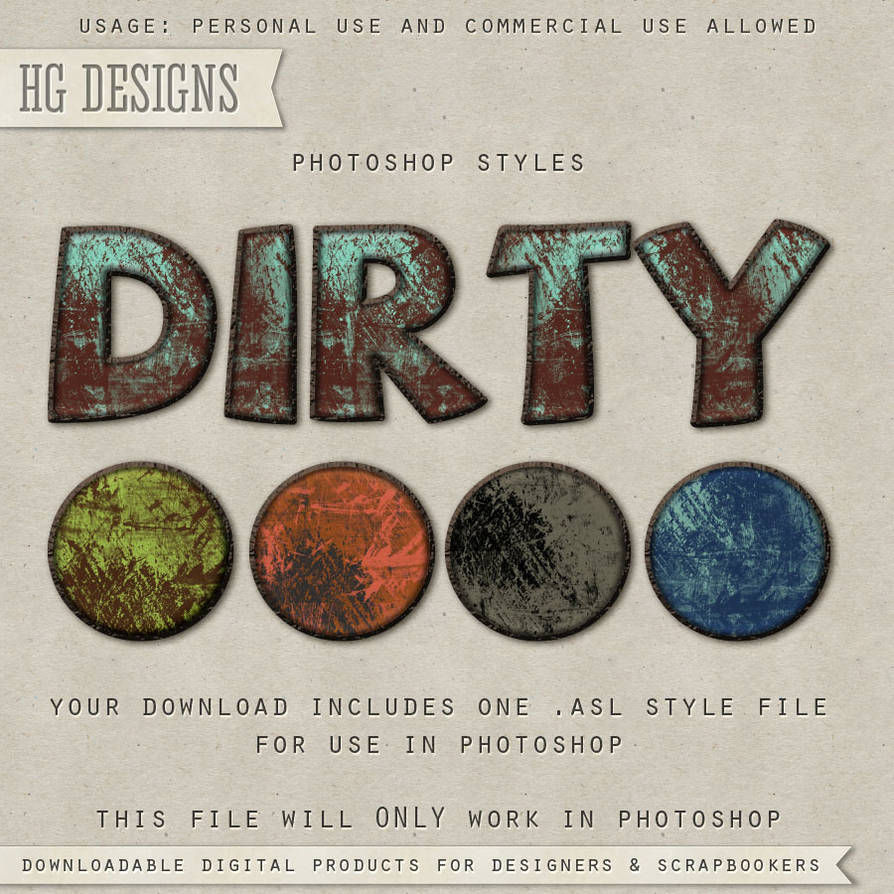 PS Style: Dirty by HGGraphicDesigns