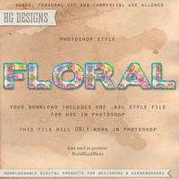 PS Style: Floral by HGGraphicDesigns