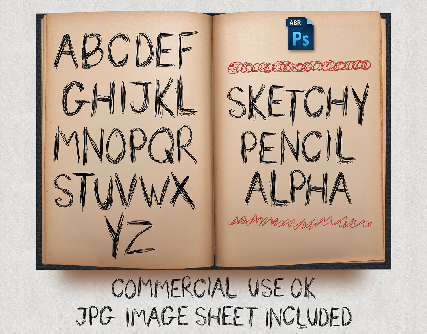 PS Brushes: Sketchy Pencil Alpha by HGGraphicDesigns