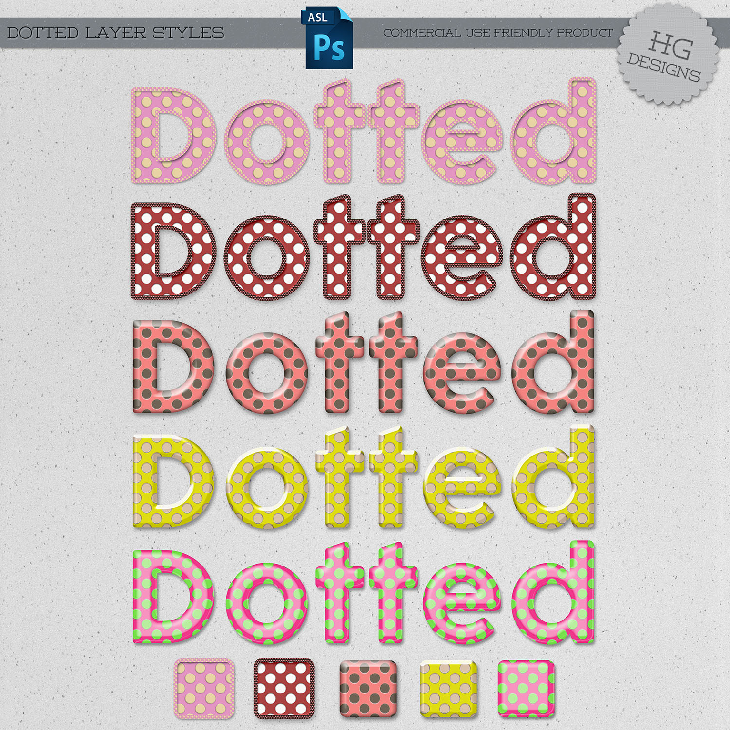 Styles: Dotted