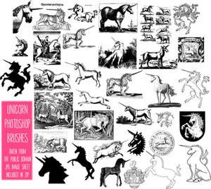 PS Brushes: Unicorns