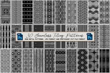 Free: Mini Metal Seamless Tiling Patterns