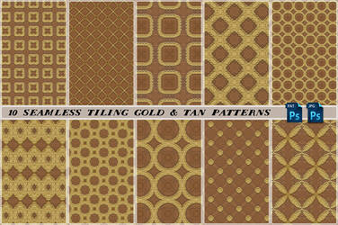 Free seamless tiling gold and tan patterns