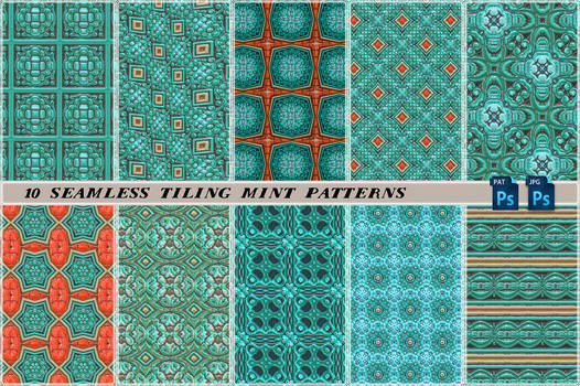 Free seamless tiling mint patterns