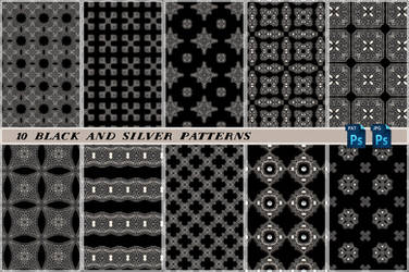Free Black And Silver Seamless Tiling Patterns