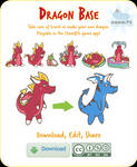 Make Your Own Dragon! Free Base works in ChumBits