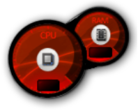 red Aero cpu meter by gunezzue