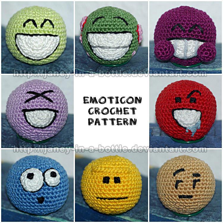 Emoticon Crochet Pattern by janey-in-a-bottle