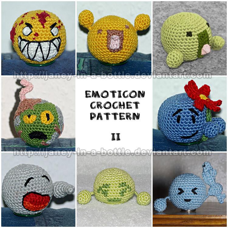 Crochet Patterns Drawing : Emoticon Crochet Pattern 2 by janey-in-a-bottle on DeviantArt