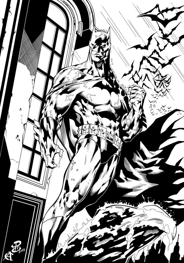 Batman by Renato Camilo, Inks by CB. by CB-ComicArt