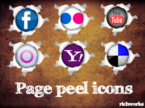 Page Peel icons packe by richworks