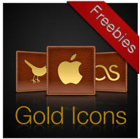Gold Leather Social Media Icon by richworks