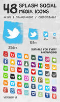 Splash Social Media Icons by SimekOneLove