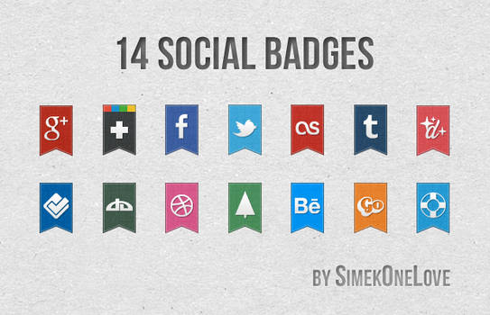 14 Social Badges