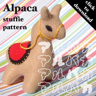 Alpaca Softie Pattern by quexthemyuu