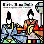 Hina Doll Kiri-e pattern