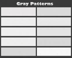 Gray Patterns by MEMO-DESIGNER