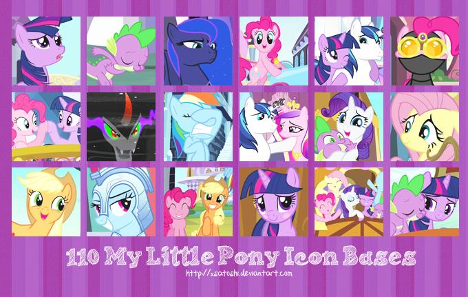 110 My Little Pony Icon Bases by xSatoshi