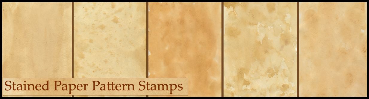 Stained Paper Pattern -Stamps- by MarshmellowHeaven