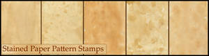 Stained Paper Pattern -Stamps-