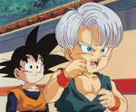 Trunks and Goten BFF Gif