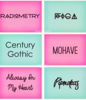 Font Pack by pelinyildirim
