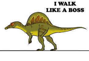 Spinosaurus Walk Finished by Supaslim