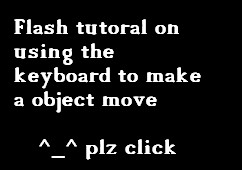 Flash game movement tutorial by samuraichi