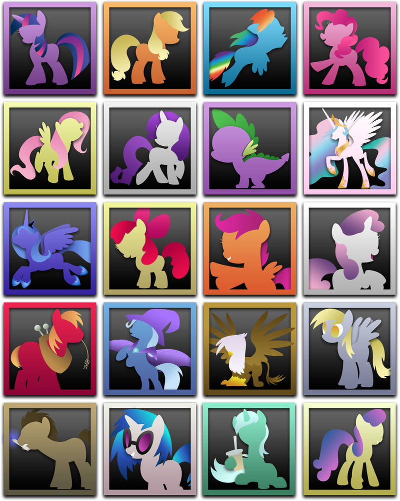 My Little Pony Icons, Win+OSX
