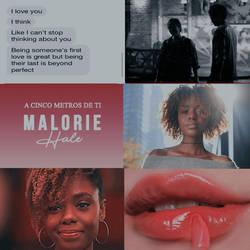 MALORIE HALE - A 5 METROS DE TI - CRXZYWXRLD by DimeyCLG