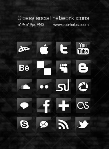 Glossy social network icons by cvakator