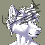 Free anthro wolf lineart cens. by T0xicEye