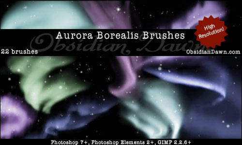 Aurora Borealis GIMP Brushes by Perra-Loca