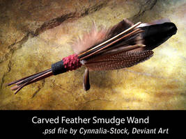 Feather Smudge Wand by Cynnalia-Stock