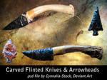 Flint Knives and Arrowheads
