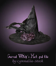 Carved Witch's Hat by Cynnalia-Stock
