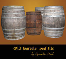 Old Barrels by Cynnalia-Stock