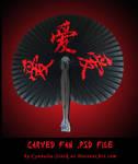 Oriental Fan - Carved