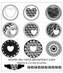 hearts and circles brushes