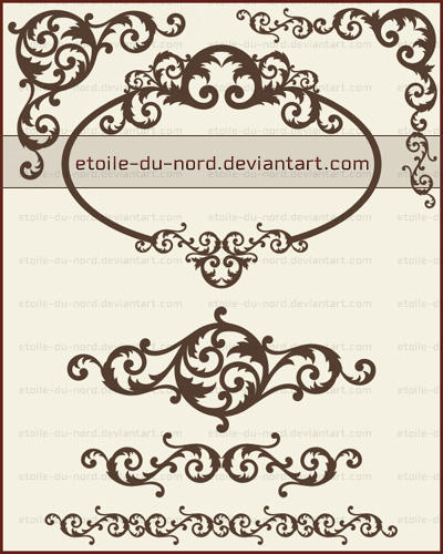 decorative brushes2 by Etoile-du-nord