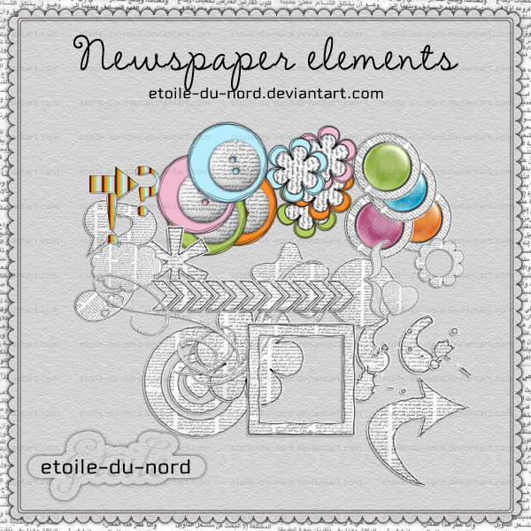 Scrapbooking:newspaper elem by Etoile-du-nord