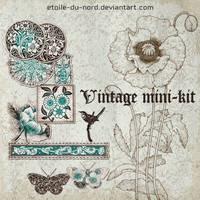 scrapbooking:vintage mini-kit by Etoile-du-nord