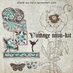 scrapbooking:vintage mini-kit