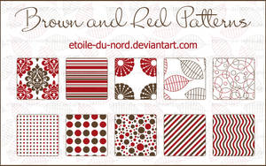 Brown and red patterns by Etoile-du-nord