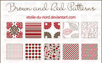 Brown and red patterns