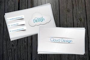 White-Blue Business Card + All .PSD by vitalyvelygo