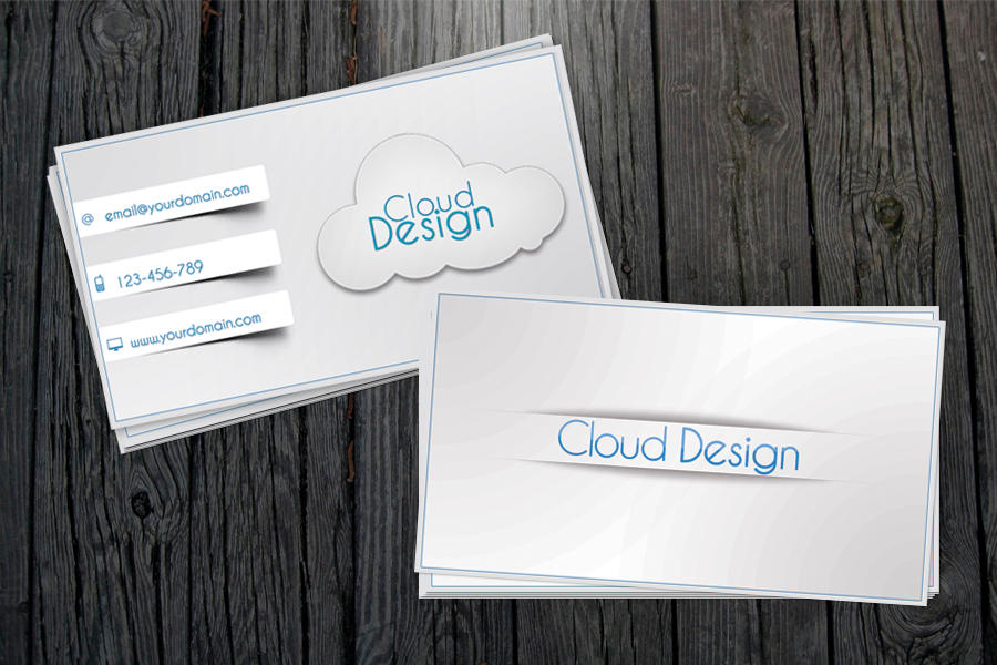White-Blue Business Card + All .PSD by vitalyvelygo on DeviantArt